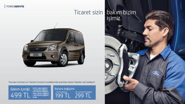 Tourneo Connect ve Transit Connect modellerinde avantajlı bakım fiyatları sizi bekliyor.