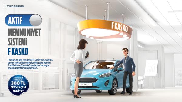 3 yaş ve üzeri Ford'unuza özel F Kasko yaptırın mevcut indirimlerinize ek 300 TL Servis çeki kazanın!